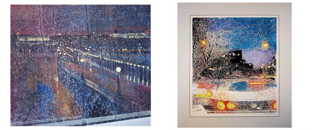 Night on the Eye Through Rain + print - sliding